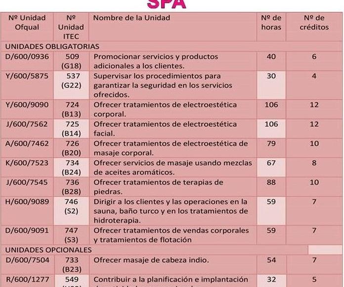 Nivel 3 NVQ en MASAJE Y SPÁ: Cursos peluquería y estética de Centro de Formación de Peluquería y Estética Virgen de los Llanos Moliné