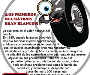 Sabías que los primeros neumáticos eran blancos?