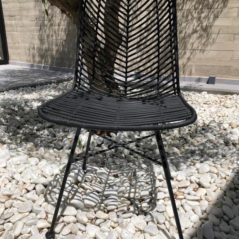 silla de fibra natural