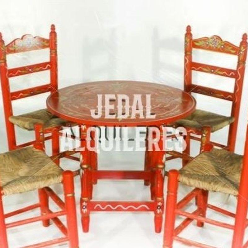 Conjunto de mesas y sillas sevillanas: Catálogo de Jedal Alquileres