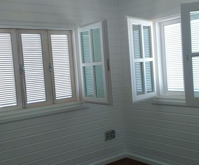 Interior Casa Madera termianción Blanco