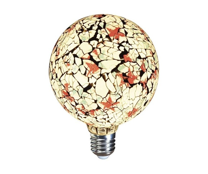LAMPARA DECORATIVA FILAMENTO LED GLOBO TIFFANY E27 4W 360º 230V BLANCA