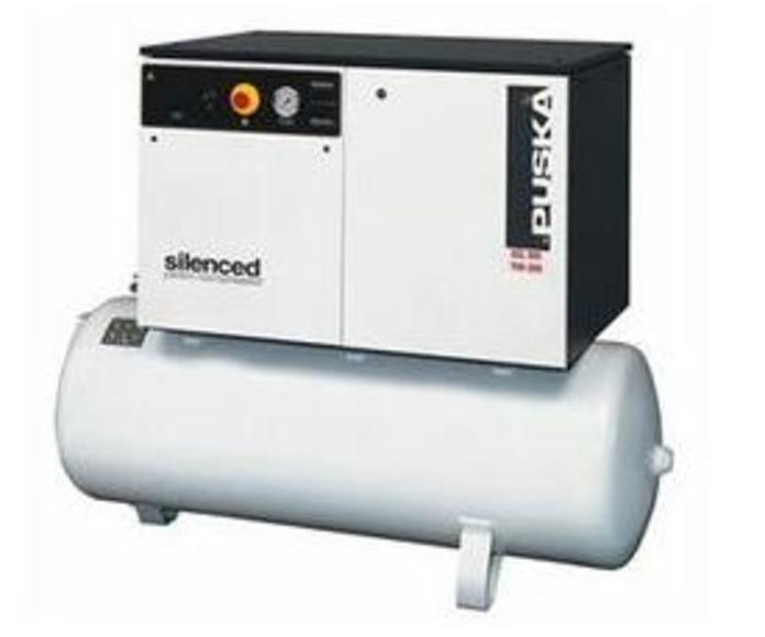 Compresores de pistón serie industrial - insonorizados sobre depósito 2 etapas