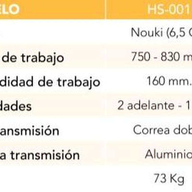 MOTOAZADA 3 VELOC. MOTOR NOUKI 6.5 CV Cód. HS-001: Productos y servicios de Maquiagri