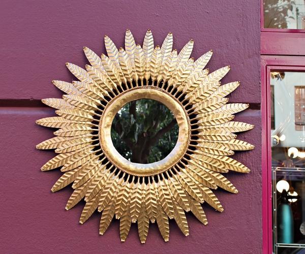 Espejo Sol de forja años 60