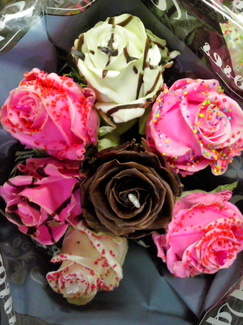 Rosas chocolate naturales