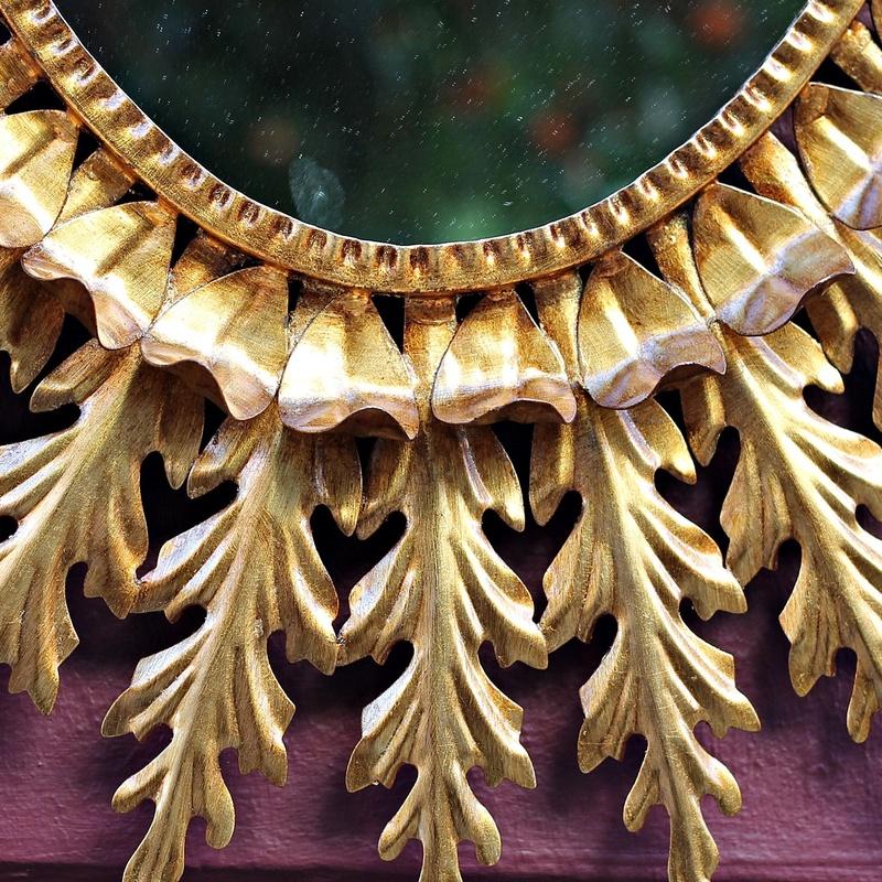 Espejo Forja y pan de oro   REF: ES100:  de Ruzafa Vintage