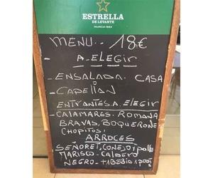 Restaurante con menú en Alicante