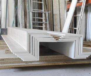 Transformación de placas de yeso laminado