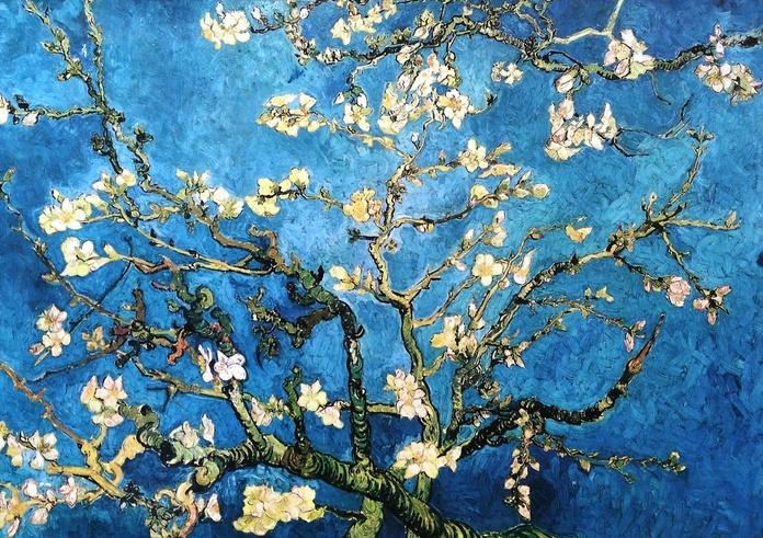 Van Gogh. Almendro sobre azul. (HOR): CATALOGO de Quadrocomio La Casa de los Cuadros desde 1968