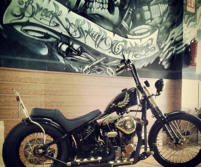 Motor shovelhead, Motos Custom, Motos Harley, Personalizar motos, Transformar Harley, Customizar motos, Restaurar motos antiguas , Break Skull Choppers