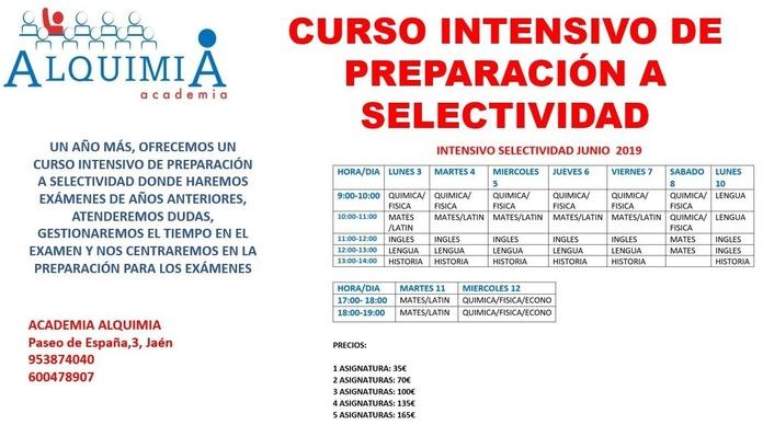 SELECTIVIDAD JUNIO 2019: NUESTRA OFERTA FORMATIVA de Alquimia
