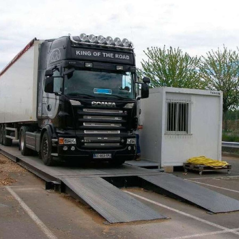 Pesaje de camiones en Bilbao