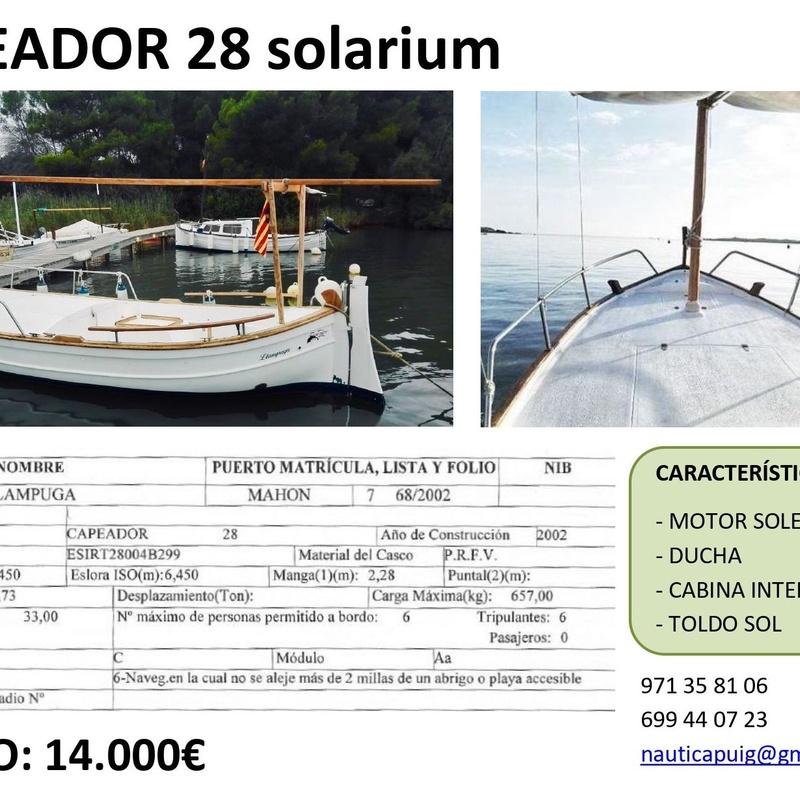 CAPEADOR 28 SOLARIUM | EN VENTA|: Productos y servicios de Náutica Puig