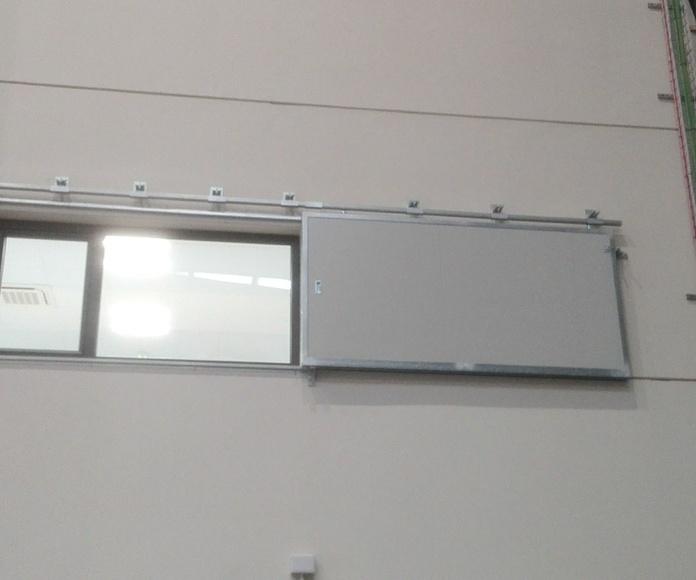 Puerta Corredera cortafuego tipo ventana contrapeso en cierre EI2-60 Santander