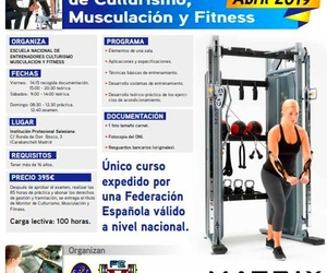 Curso de Monitor de Culturismo Musculación y Fitness