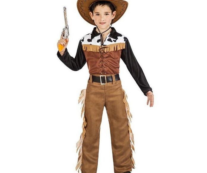Disfraz vaquero marrón