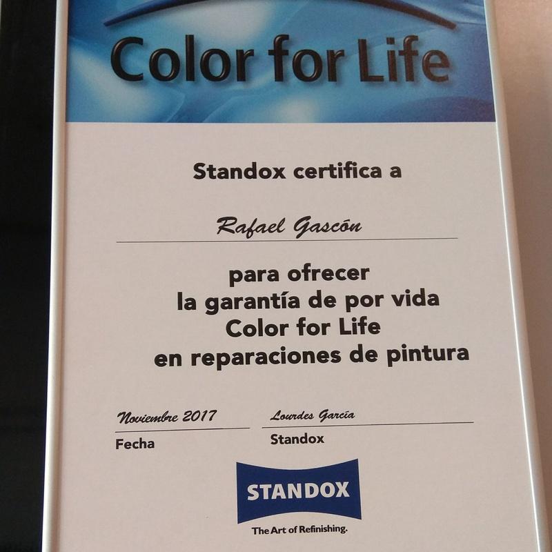 Garantia de por vida: Servicios de Plancha y Pintura Rafael Gascón