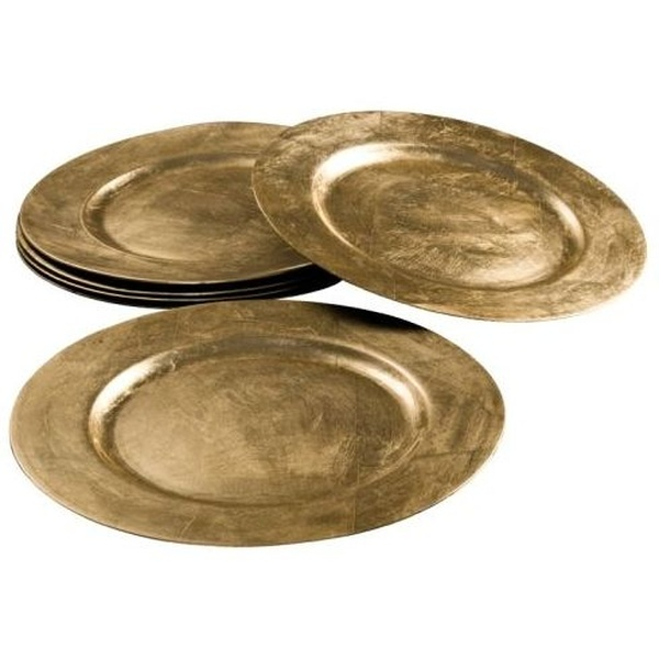 Alquiler de bajo plato dorado de 33 cm.