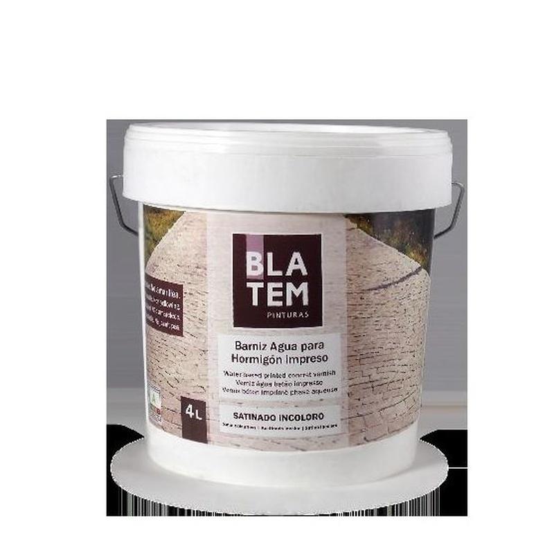 Barniz al agua para hormigon impreso de BLATEM en tienda de pinturas en ventas.