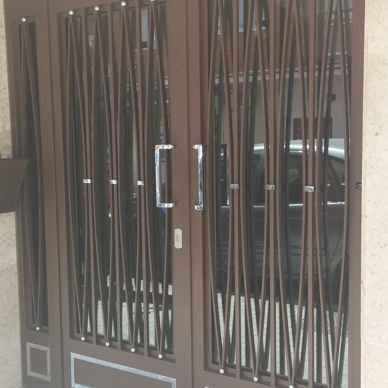Puerta portal 2 hojas