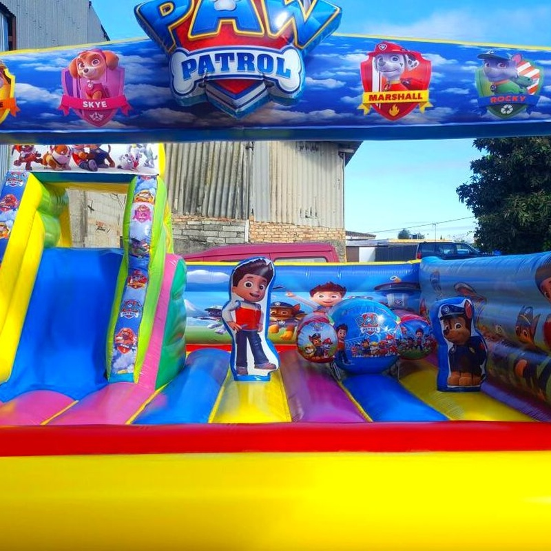 Castillo hinchable Plataforma Tobogán : Catálogo de Hinchables Happy Jump