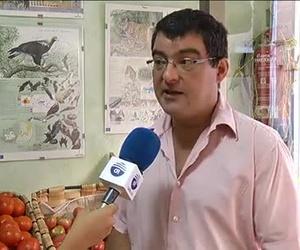Reportaje de La despensa ecológica realizado por la televisión local de Ciudad Real