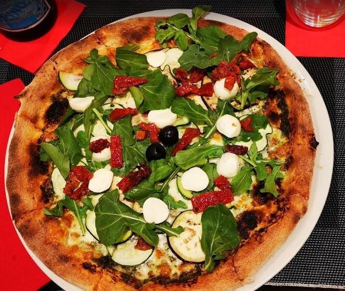 Pizzas Vegetarianas: Carta de Rustico Pizza e Vino