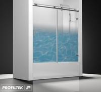 Mampara de baño Profiltek serie Steel mod. ST-110 Classic decoración natural