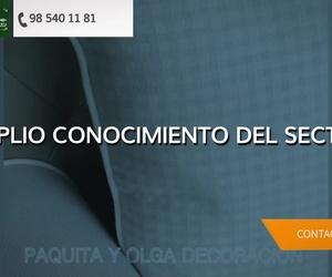 Confección de cortinas en Llanes | Paquita & Olga Decoración