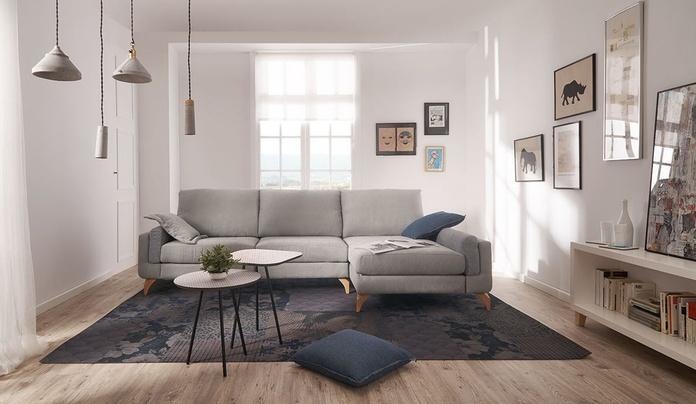 Sofá estilo nórdico en muebles sagunto