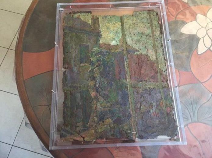 Descubren un posible cuadro de Monet pintado 'sobre una caja de pizza'