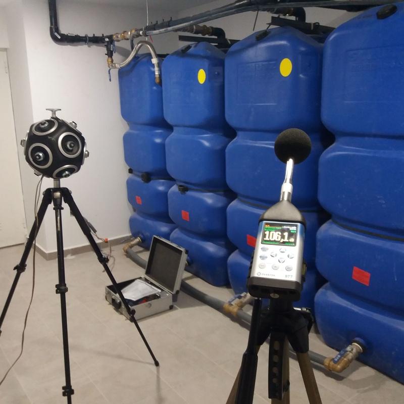 Medición acústica CTE DBHR - Sala de grupo de presión en bloque de viviendas