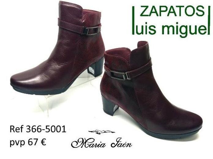 Botines burdeos maria jaen ( REF 366-5001): Catalogo de productos de Zapatos Luis Miguel