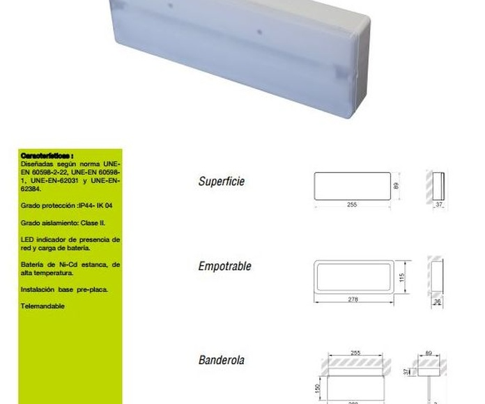 Emergencia LED Aerlux: Productos de Centro Led Almería