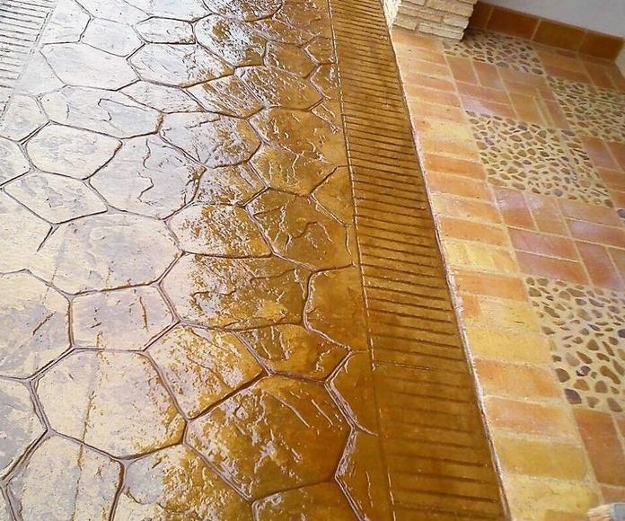 Hormigón impreso piedra mallorquina.: Pavimentos de hormigón de Pedro León Pulidos de Hormigón