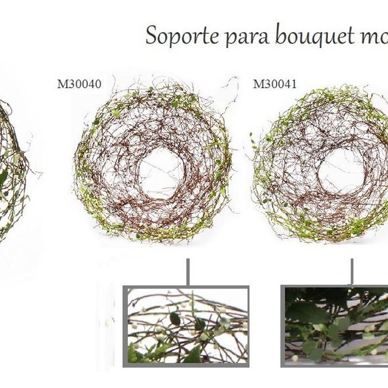 """SOPORTE PARA BOUQUET MODELO """"Berry"""" (SÁLIX) 20cm (COL.: REF: M30040 verde, M30041 BLANCO, M30043 ROSA) 1,35€/UD (SE VENDEN EN PQTES DE 10 UNIDADES)"""