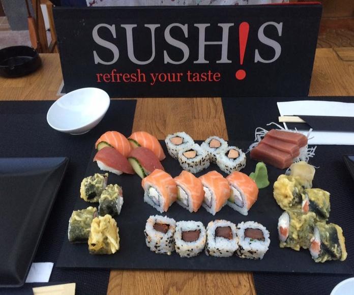 Variados sushi - sashimi (assorted sushi - sashimi): Carta de Sushis Ibiza