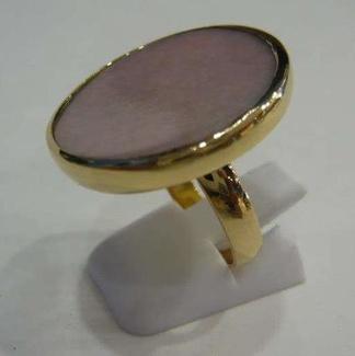 Fabricación sortija ópalo rosa
