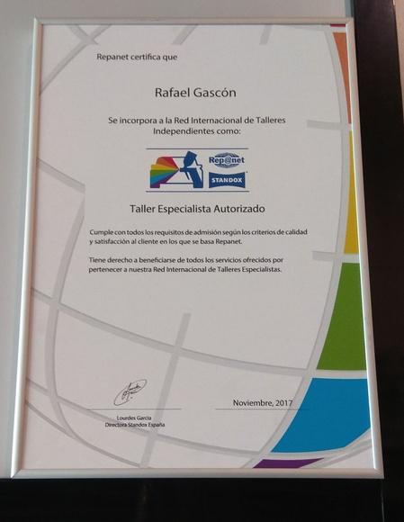GARANTÍA DE POR VIDA: Servicios de Plancha y Pintura Rafael Gascón