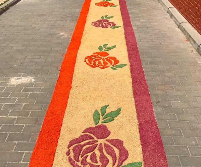 alfombra de serrin decoracion