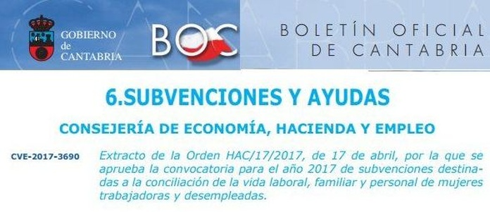 Subvenciones Gobierno de Cantabria para Guarderías y Escuelas infantiles