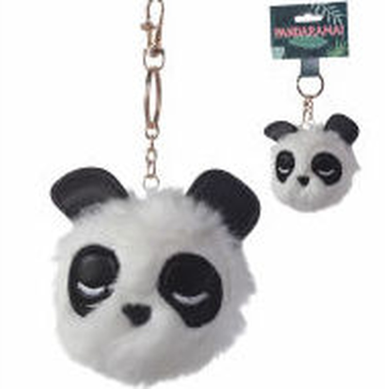 Llavero Pom Pom Oso Panda
