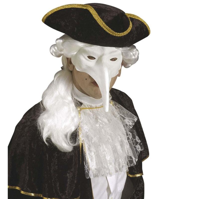Máscara veneciana blanca médico