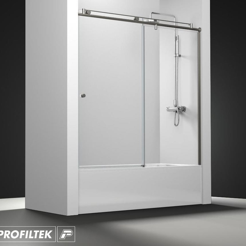 Mampara de baño Profiltek serie Steel modelo ST-110 Light