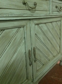 Mueble patína verde. Vintage