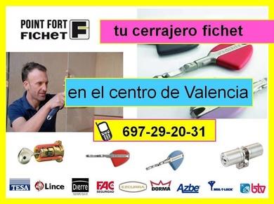 ¿Necesita cambiar cerraduras Fichet en Valencia? Llámenos 697 29 20 31