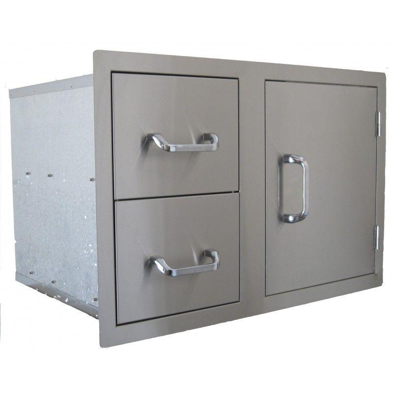Set encastrable 2 cajones + puerta inox: Productos y servicios de Mk Toldos