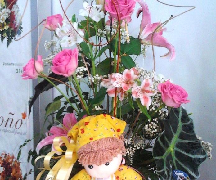 Centro variado rosas.