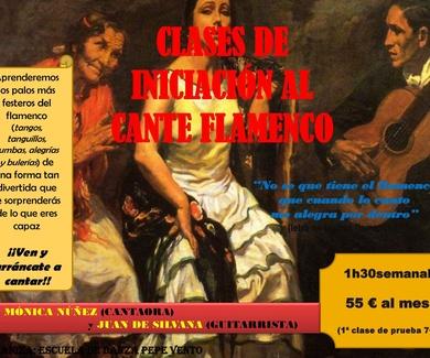 Clases de Tablao - Cante Flamenco *NUEVO*